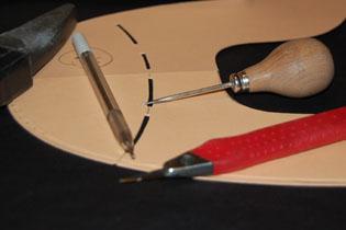 Outil de patronnage de l'atelier de chaussure Preys